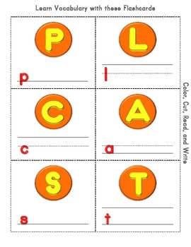 Autumn Cut and Color Flashcards