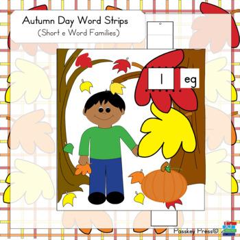 Autumn Day Word Strips