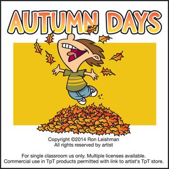 Autumn Days Cartoon Clipart
