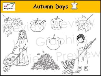 Autumn Days Clip Art