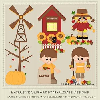 Autumn Days Clip Art Graphics