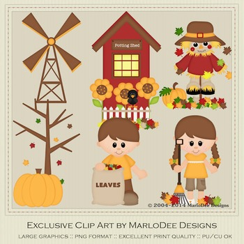Autumn Days Clip Art Graphics