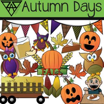 Autumn Days Clip Art Pack