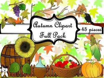 Beautiful Autumn Clipart - Beautiful Fall Clipart - Mega Pack #BTS2017