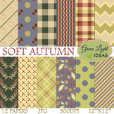 Autumn Digital Papers / Fall Backgrounds / Soft Autumn Papers
