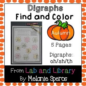 Autumn Digraph Review: Find and Color Printables