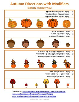 Autumn Directions with Modifiers - Freebie