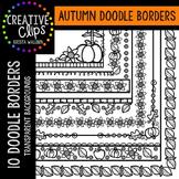 Autumn Doodle Borders {Creative Clips Digital Clipart}