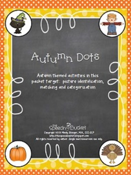 Autumn Dots – Fall Matching/Sorting Activity (Halloween, H
