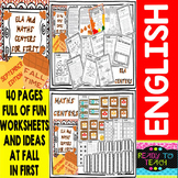 Autumn ELA and MATHS' Centers for First Grade (Fall Edition)