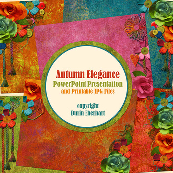 Autumn Elegance PowerPoint Presentation and Digital Printable Files