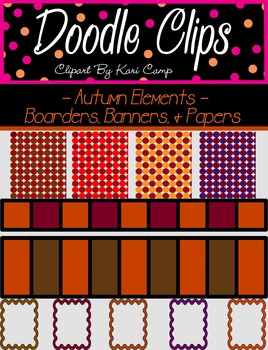 Autumn Elements: Paper, Boarders, Banners {Clipart}