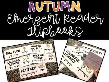 Autumn Emergent Reader Flipbooks