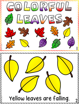 Emergent Readers Autumn Fall Literacy Centers Reading Mini Books Stories