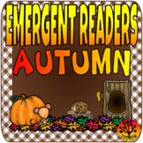 Emergent Readers Autumn Fall Literacy Centers Reading Mini