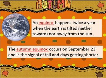 Fall/Autumn Equinox Haiku + Interactive Notebook and PPT