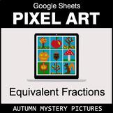 Autumn - Equivalent Fractions - Google Sheets Pixel Art