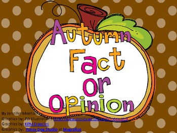 Autumn Fact Or Opinion