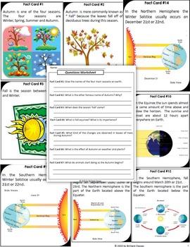 Autumn Facts Scavenger Hunt - An Activity