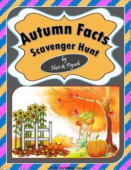 Autumn Facts Scavenger Hunt - An Activity
