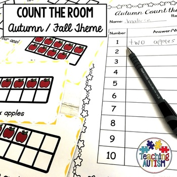 Autumn / Fall Activities - Count the Room