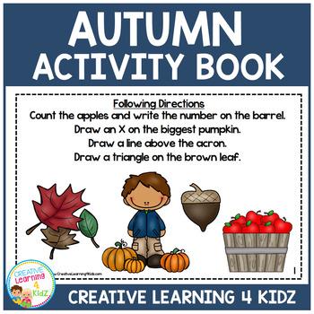 Autumn Fall Activity Book