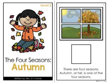 Autumn / Fall Adapted Books ( Level 1 and Level 2 )
