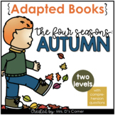 Autumn / Fall Adapted Book [Level 1 and Level 2]   Book ab