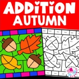 Autumn Fall Addition Facts Color by Number Set