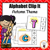 Autumn/Fall Alphabet Clip It Cards