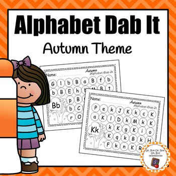 Autumn/Fall Alphabet Dab It