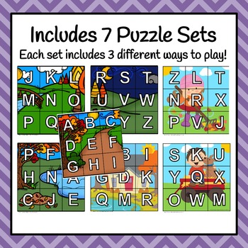 Autumn/Fall Alphabet Puzzles