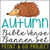 Autumn Fall Banner Craft Project, Bible Verse Discovery Ac