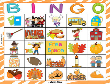 "Autumn-Fall Bingo (""Wh"" Questions)"