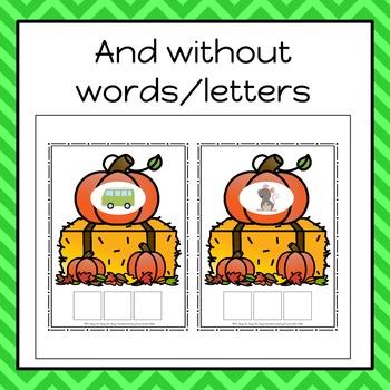 Autumn/Fall Build A CVC Word Cards