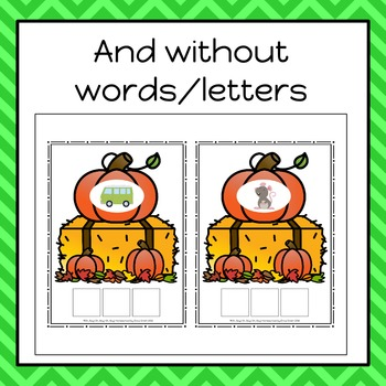Autumn/Fall Build A CVC Word Cards