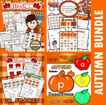 Autumn Fall Classroom Center Bundle