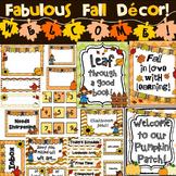 Classroom Decor - Autumn / Fall (Editable)