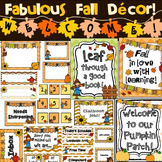 Classroom Decor - Autumn / Fall (Editable)