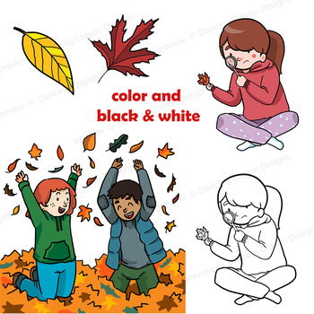 Autumn   Fall Clip Art Kids