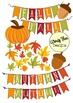 Autumn Fall Clipart, & Fall Banners, Borders and Backgrounds