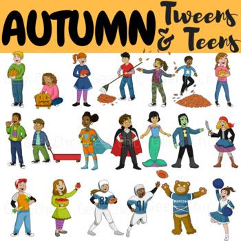 Autumn Clipart Fall Clipart Tweens & Teens (Autumn Fall Activities Clipart)