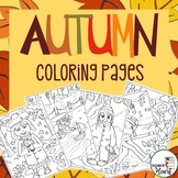 Autumn / Fall Coloring Pages