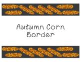 Autumn Fall Corn Cobs Harvest Thanksgiving Bulletin Board