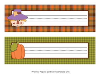 Autumn Fall Desk Name Plates