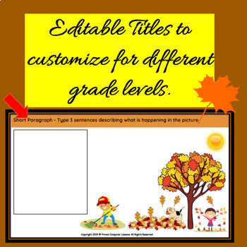 Autumn-Fall Digital Worksheets - Nouns, Adjectives, Verbs & More!