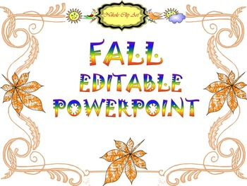 Fall - Editable Template - PowerPoint slide design