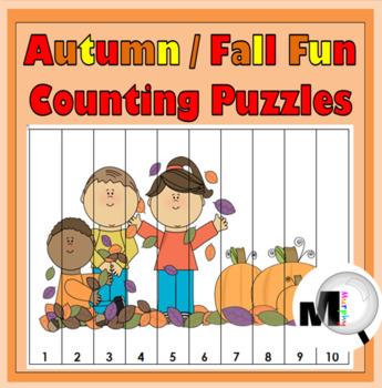 Autumn Math Number Puzzles