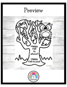 Autumn: Fall Greeting Coloring Page