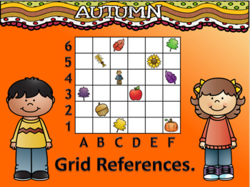 Fall-Themed Coordinate Map Skills